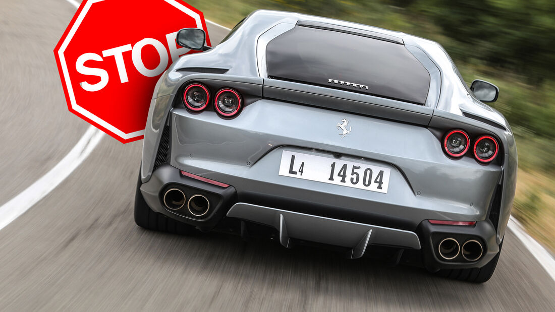 Ferrari 812 Superfast Rückruf 2020 Heckscheibe