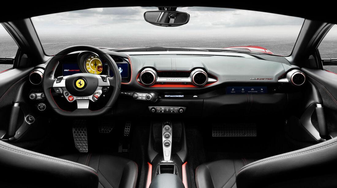 Ferrari 812 Superfast - Sportwagen - Lenkrad - Innenraum