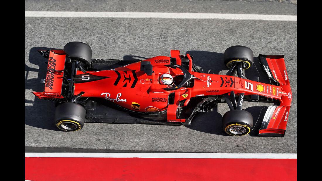Ferrari - Abmessungen - Barcelona-Test 2019
