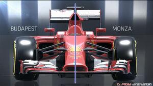 Ferrari - Abtriebsvergleich - Piola Animation - F1 2014