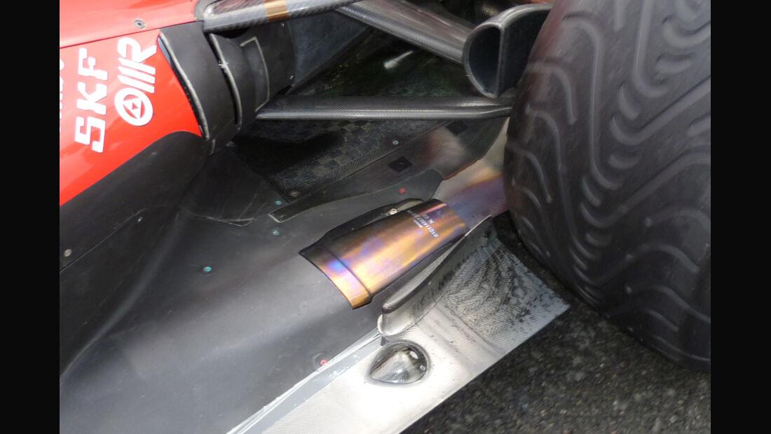 Ferrari Auspuff GP England 2011