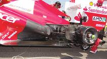 Ferrari Auspuff GP Ungarn 2012