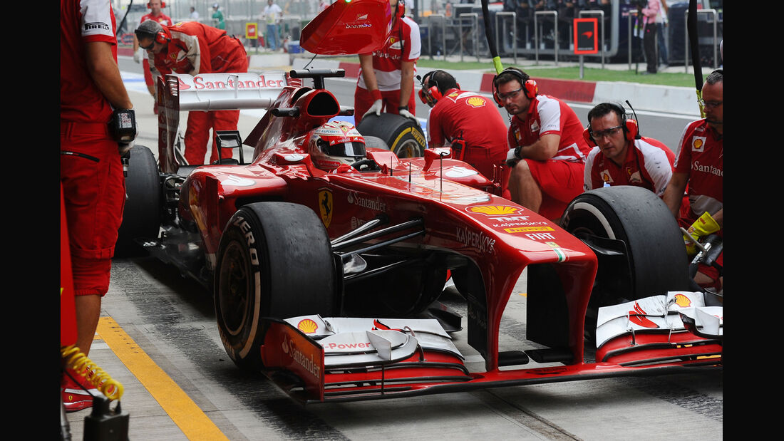 Ferrari Boxenstopp - Fernando Alonso - Formel 1 2013