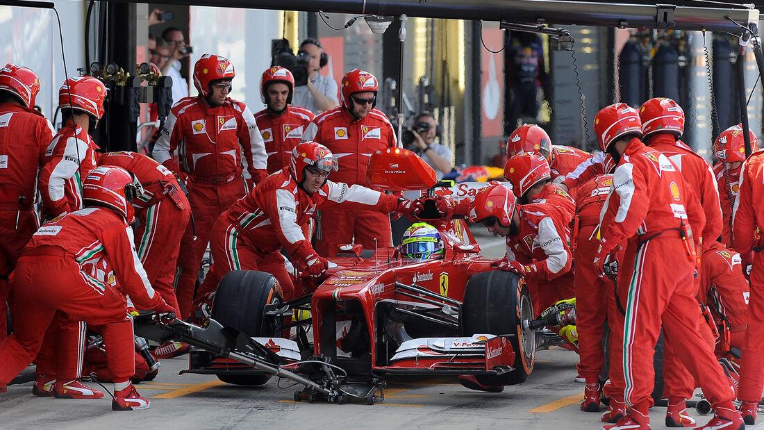 Ferrari - Boxenstopp - Formel 1 2013
