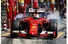 Ferrari - Boxenstopp - Formel 1 - 2015