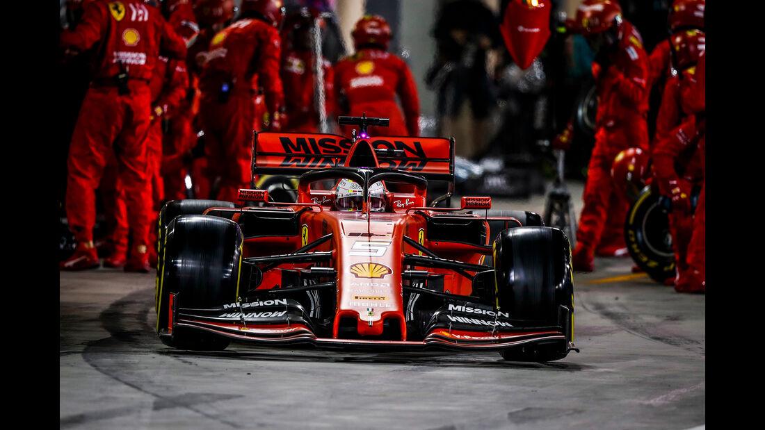 Ferrari - Boxenstopp - Formel 1 - 2019