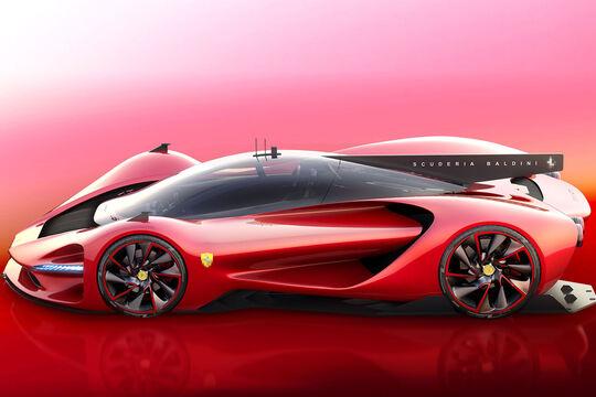 "Ferrari Concept P3 ""Scuderia Baldini"" - Concept - Grafikkünstler"