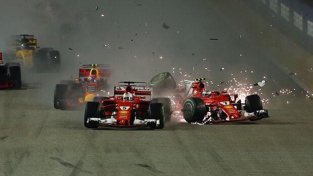 Ferrari-Crash - GP Singapur  2017