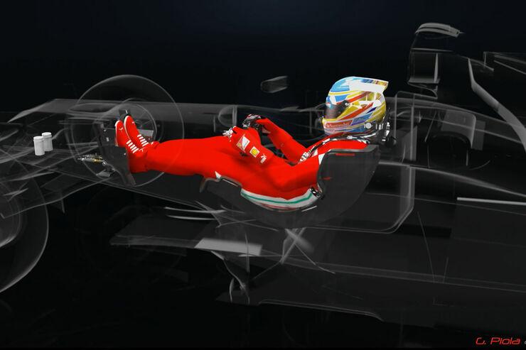 Ferrari DRS Pedal F2012 Piola Technik Animation
