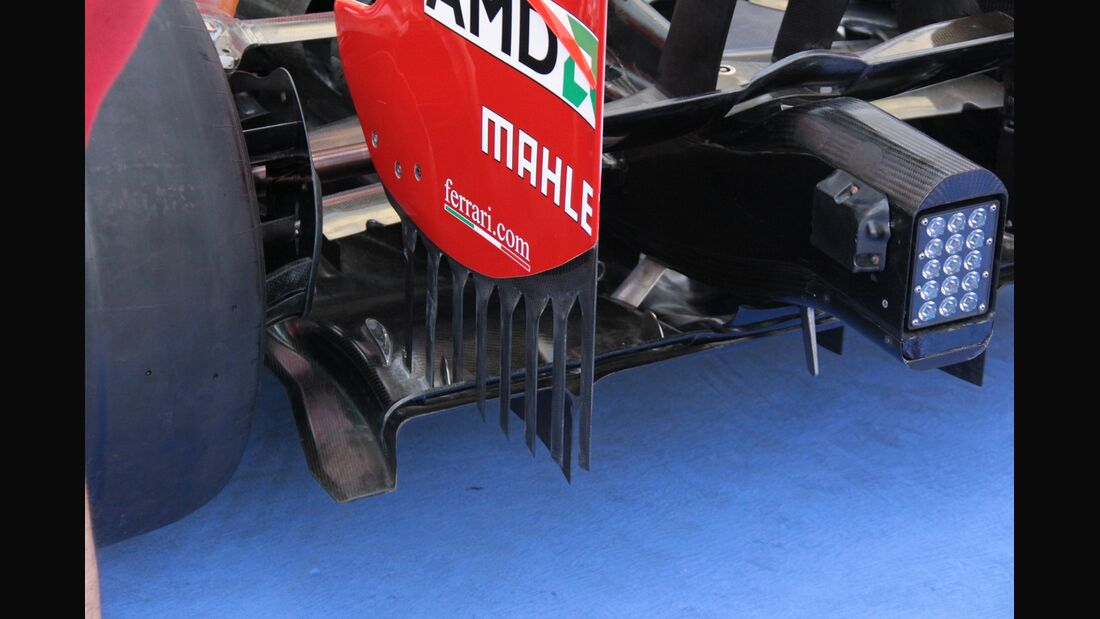 Ferrari Diffusor - Formel 1 - GP Abu Dhabi - 01. November 2012
