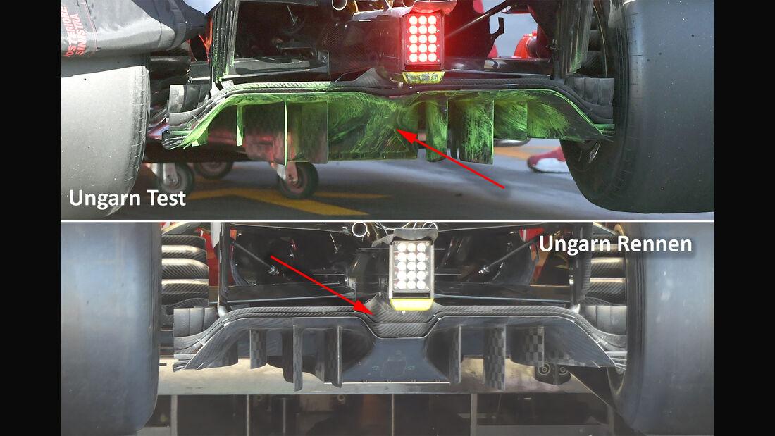 Ferrari Diffusor - GP Ungarn . Upgrade - 2017