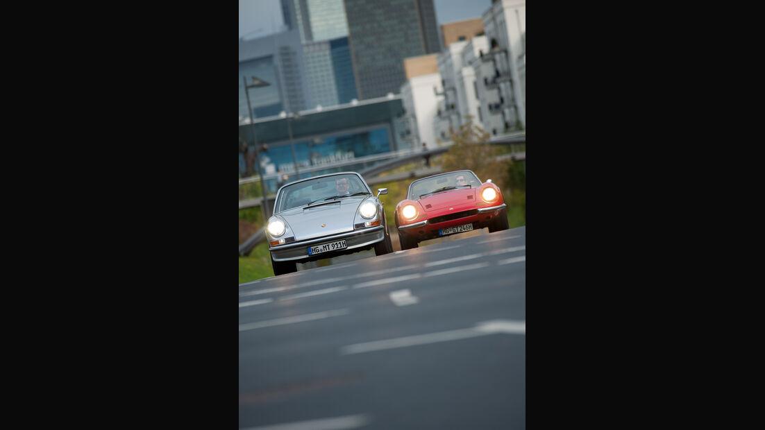 Ferrari Dino 246 GTS, Porsche 911 S Targa, Frontansicht