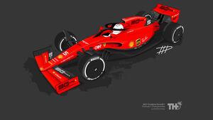 Ferrari - F1-Concept 2021 - Livery by Tim Holmes