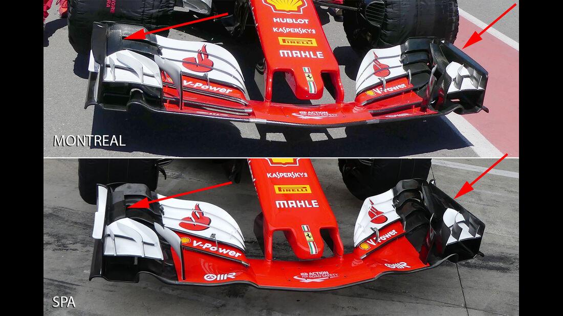 Ferrari - F1-Technik - Upgrades - GP Belgien / GP Italien 2017