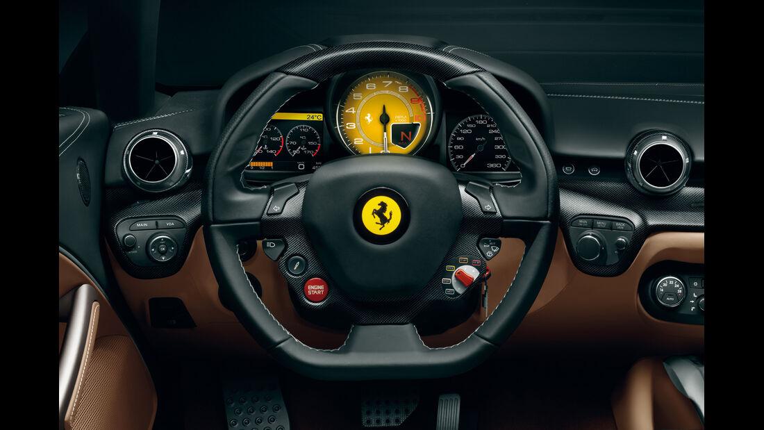 Ferrari F12 Berlinetta, Cockpit, Lenkrad