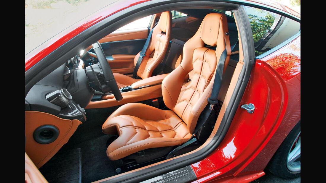 Ferrari F12 Berlinetta, Fahrersitz, Ledersitz