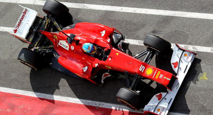 Ferrari F2012 Alonso Mugello Formel 1 Test 2012