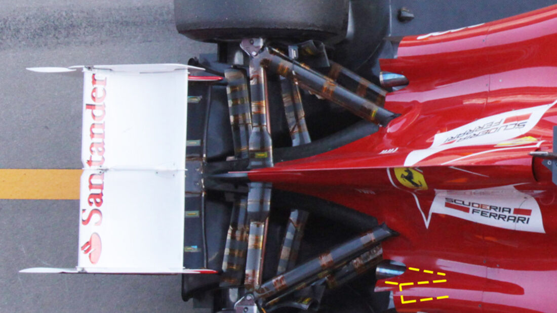 Ferrari F2012 - Auspuff