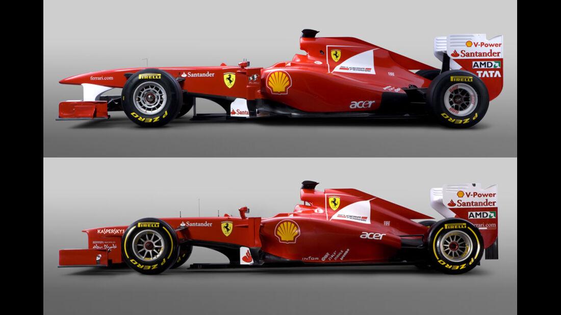 Ferrari F2012 Vergleich F150