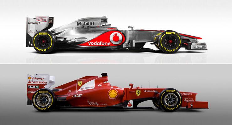 Ferrari F2012 vs. McLaren MP4-27