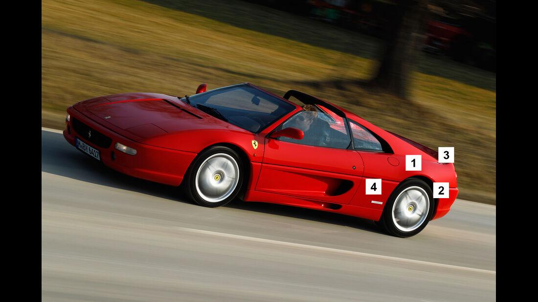 Ferrari F355 GTS, Igelbild, Schwachpunkt