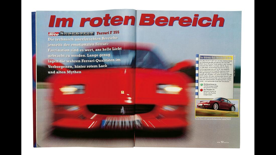 Ferrari F355 GTS, sport auto-Zeitschrift 06/1997