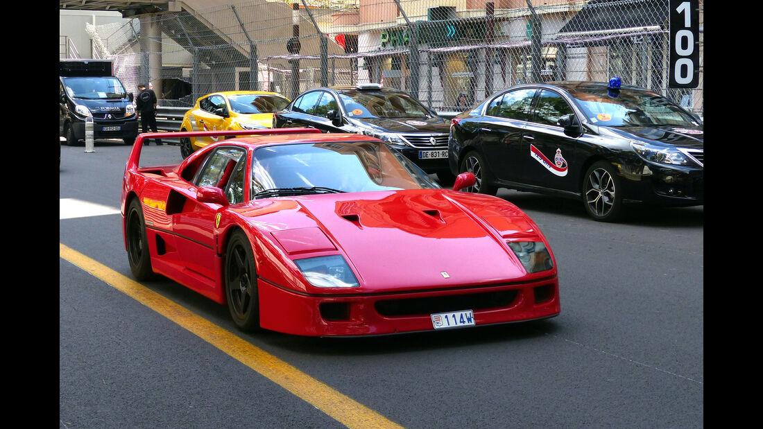 Ferrari F40 -  Carspotting - Formel 1 - GP Monaco 2015