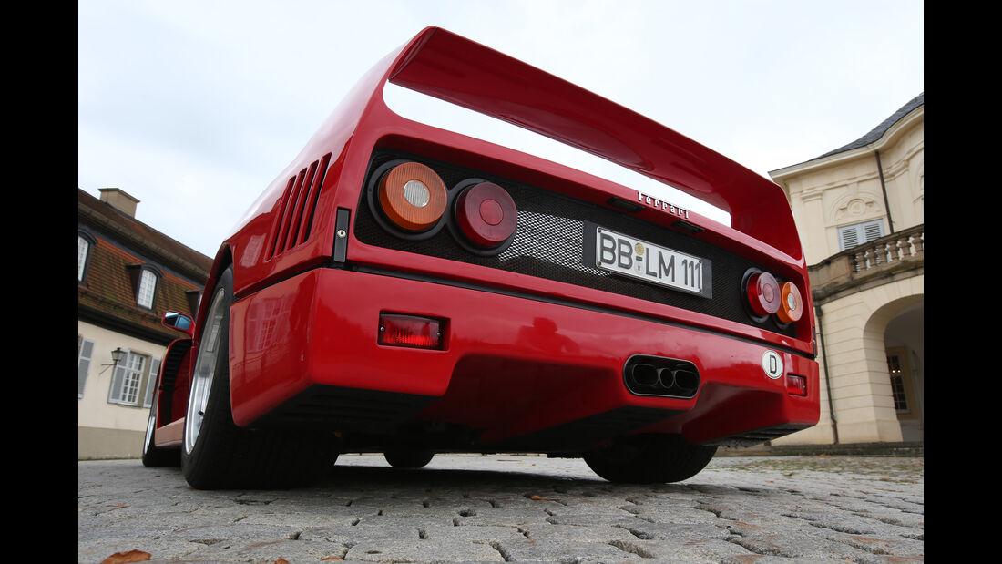 Ferrari F40, Endrohre