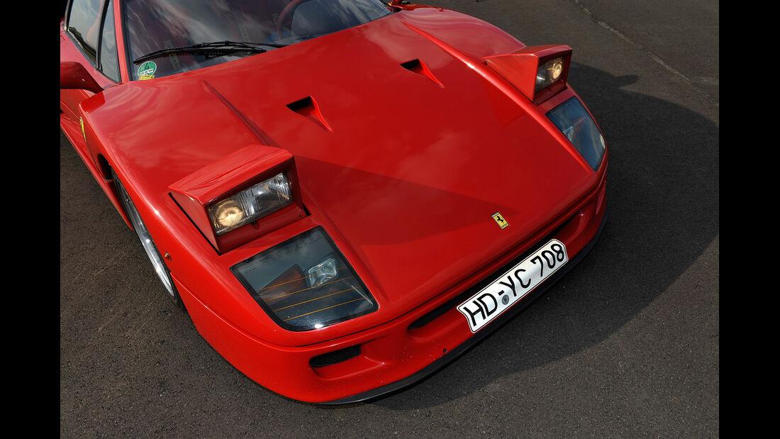 Ferrari F40, Frontscheinwagen, Schlafaugen