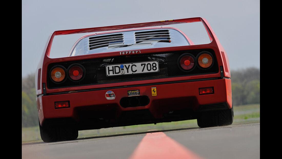 Ferrari F40, Heck, Heckspoiler