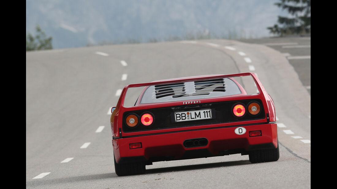 Ferrari F40, Heckansicht, Spoiler