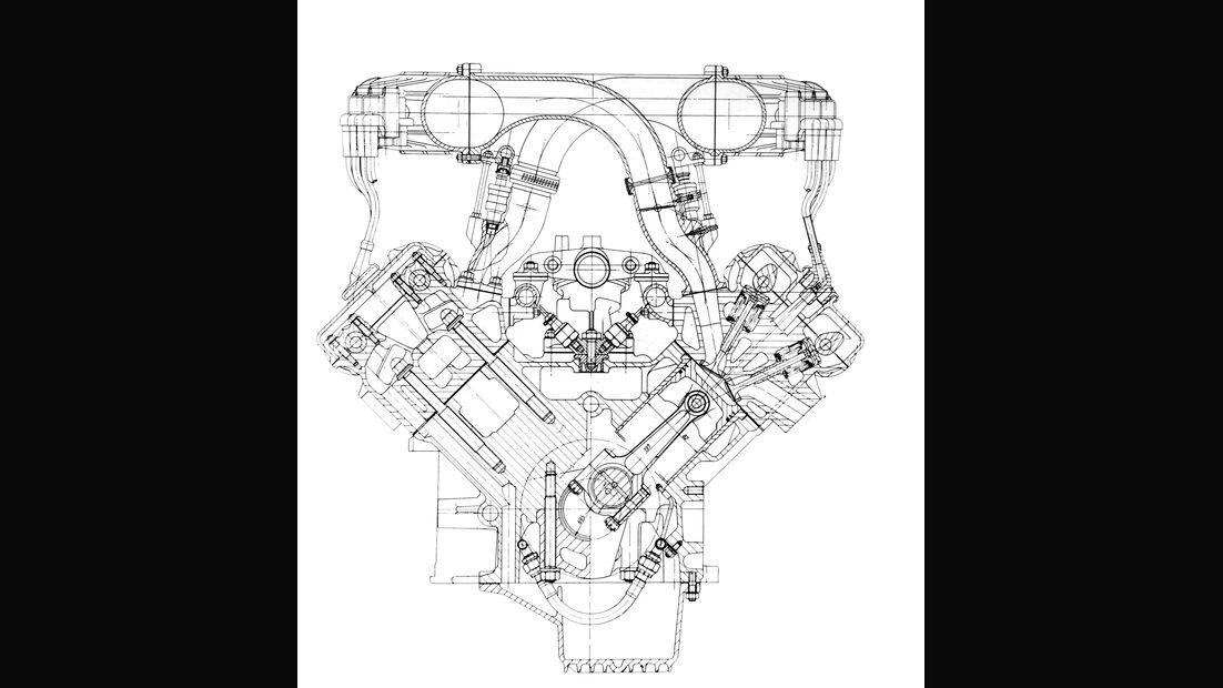 Ferrari F40, Motor, Grafik