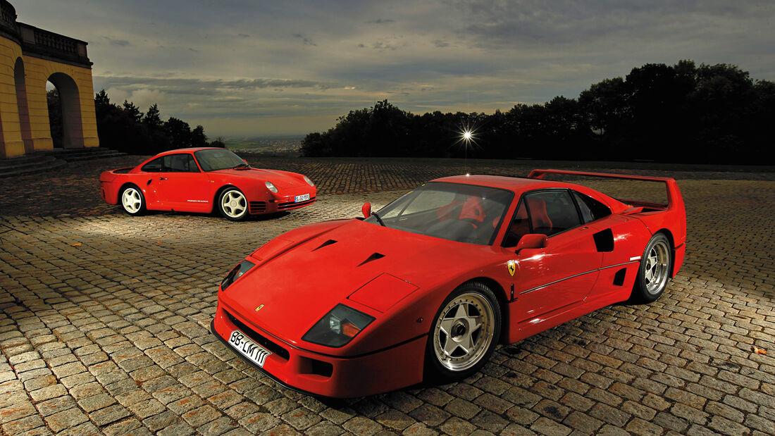 Ferrari F40 Gegen Porsche 959 Nonplusultra Supersportler Der 80er Auto Motor Und Sport