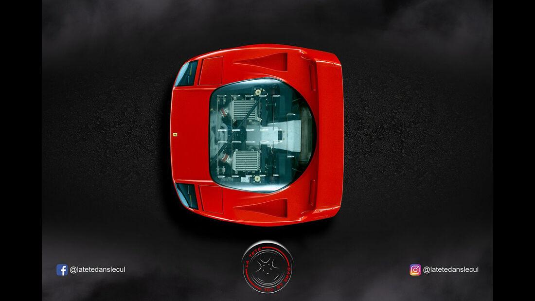 Ferrari F40 Retusche
