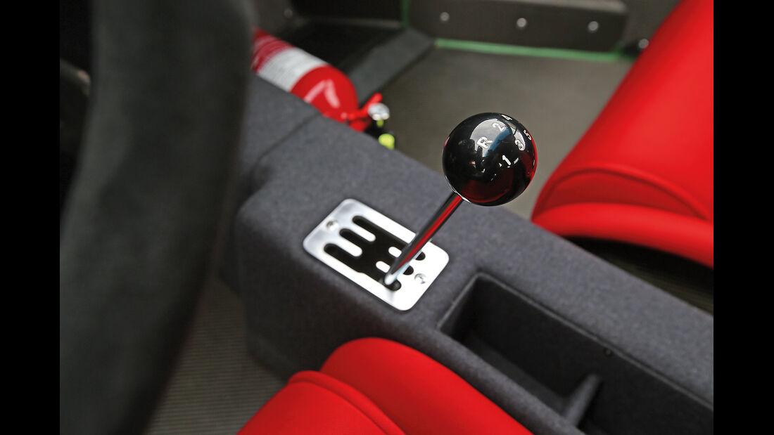 Ferrari F40, Schalthebel