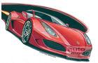 Ferrari F450 Mark Stehrenberger Zeichnung