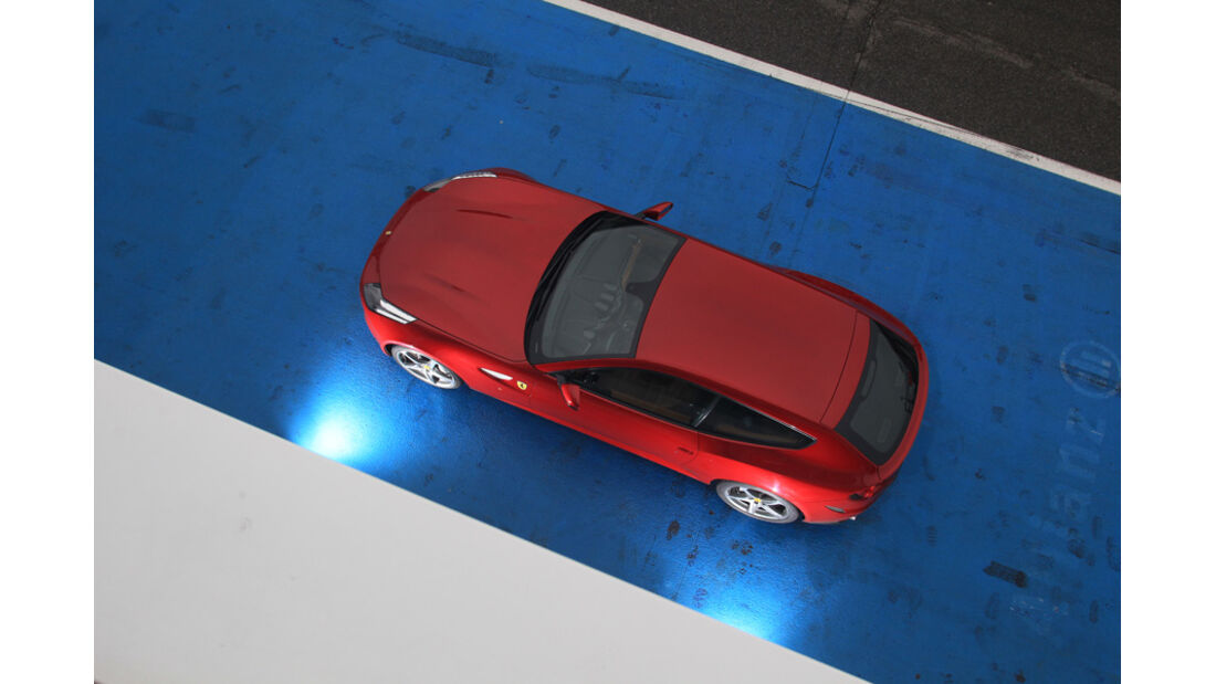Ferrari FF, Dach, von oben