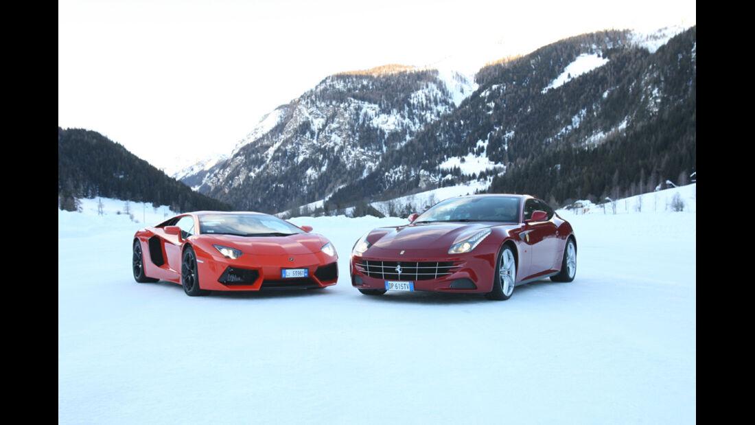Ferrari FF, Lamborghini Aventador