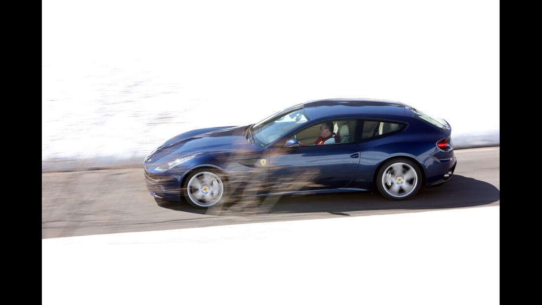 Ferrari FF, Seitenansicht, Fahrt