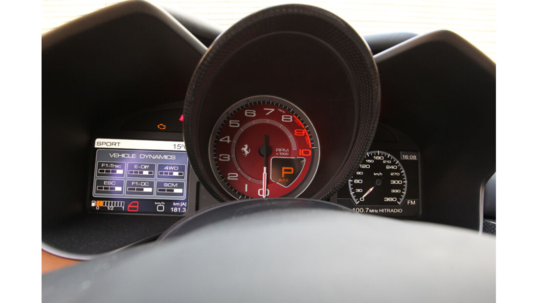 Ferrari FF, Tacho