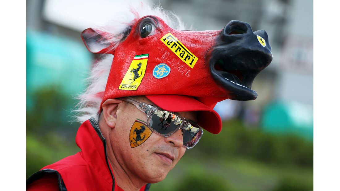 Ferrari-Fan - Formel 1 - GP Japan - 12. Oktober 2013