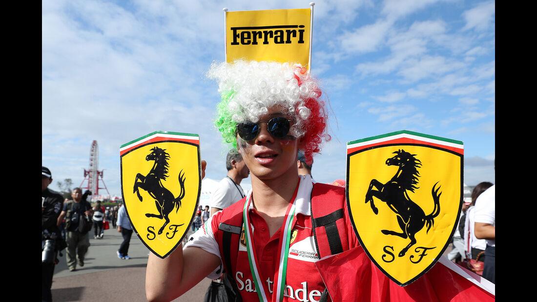 Ferrari-Fan - Formel 1 - GP Japan - Suzuka - 7. Oktober 2017