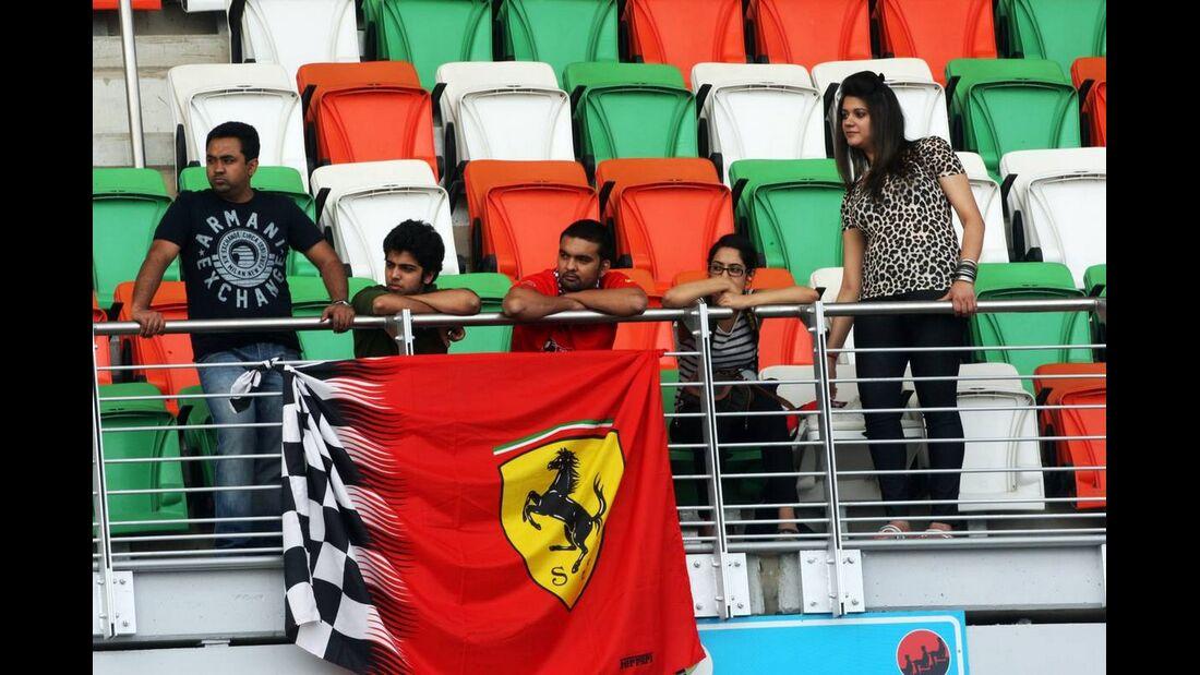 Ferrari Fans - Formel 1 - GP Indien - 27. Oktober 2012