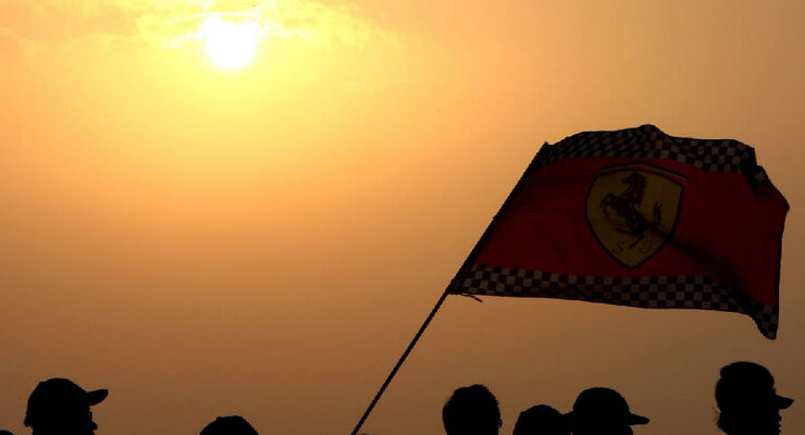 Ferrari Flagge - Formel 1 - GP Korea - 15. Oktober 2011