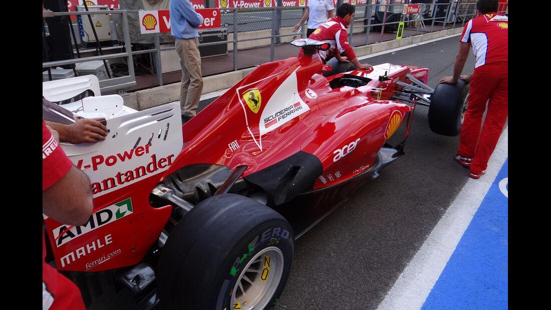 Ferrari - Formel 1 - GP Belgien - Spa - 30.8.2012