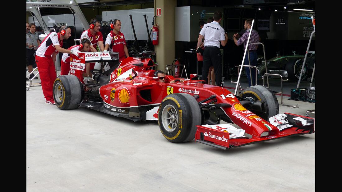 Ferrari - Formel 1 - GP Brasilien - 6. November 2014