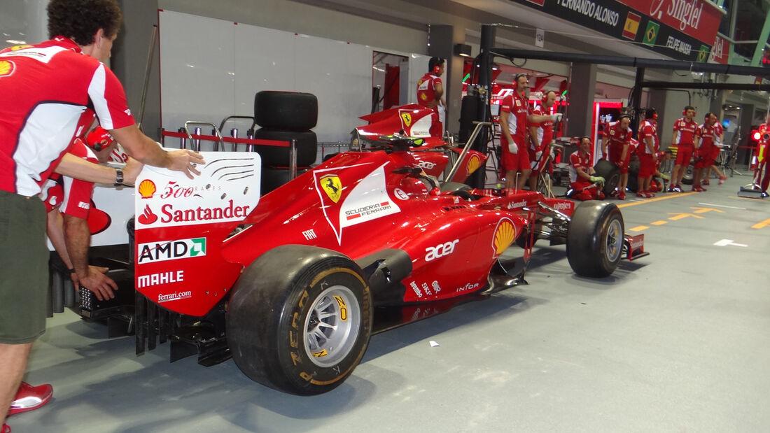 Ferrari Alonso Macht Werbung Für Massa Auto Motor Und Sport
