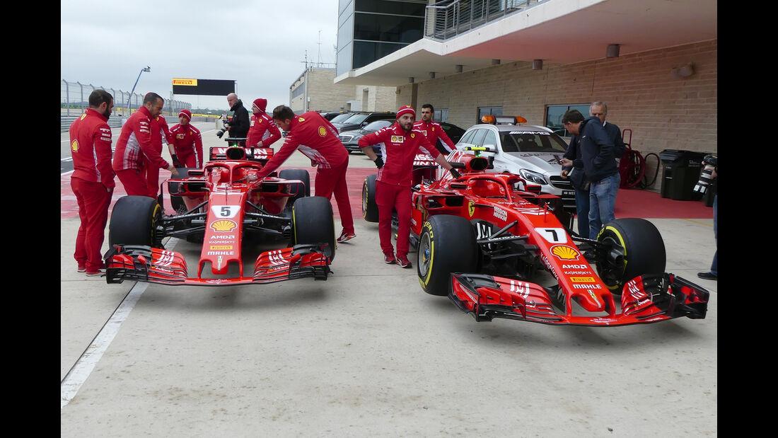 Ferrari - Formel 1 - GP USA - Austin - 18. Oktober 2018