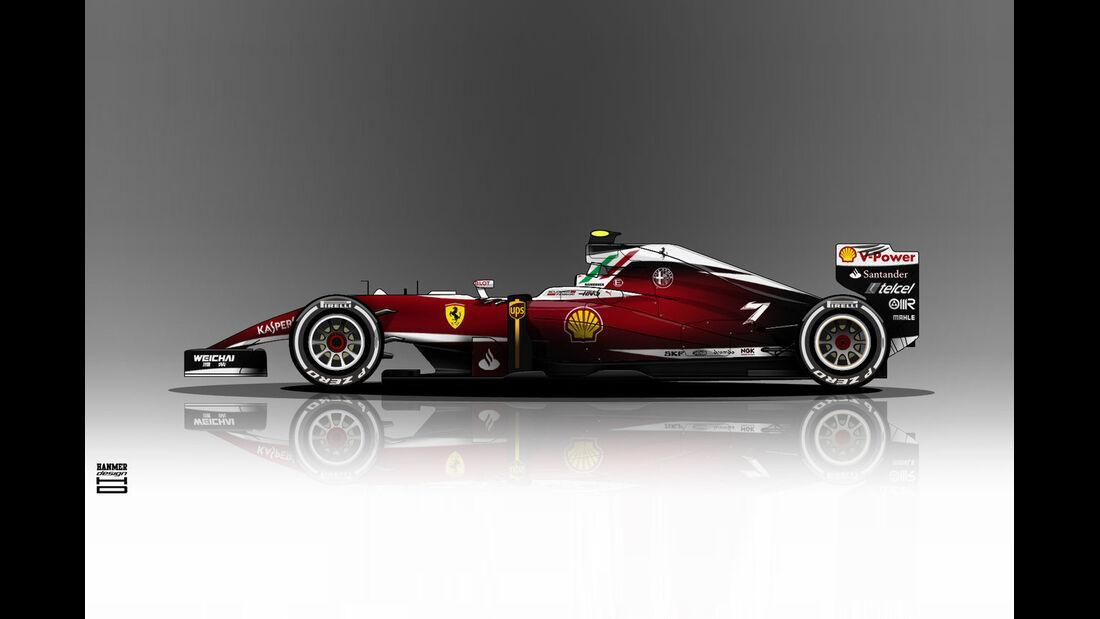 Ferrari - Formel 1 - Lackierung - Design-Concept