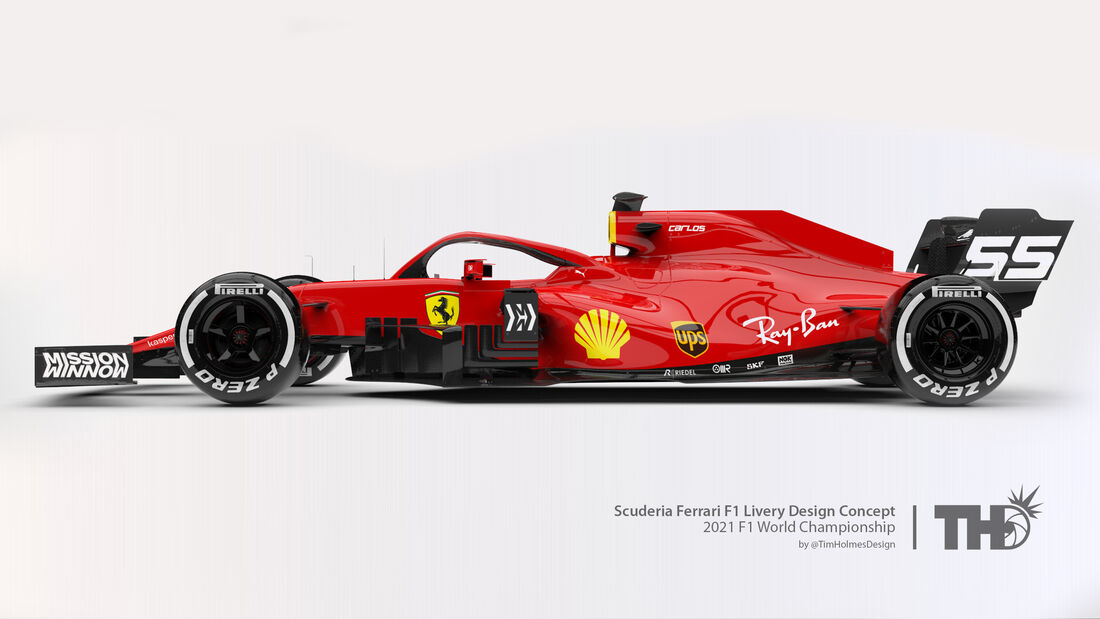 Ferrari - Formel 1 - Livery-Concept 2021 - Tim Holmes Design
